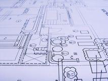 Planes de la ingeniería fotografía de archivo