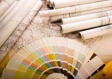 Planes del edificio Imagen de archivo libre de regalías
