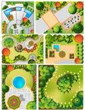 Planes del paisaje del od de las colecciones libre illustration