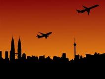 Planes departing Kuala Lumpur Stock Images