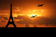 Planes departing Paris Stock Image