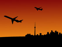 Planes departing Toronto Stock Photo