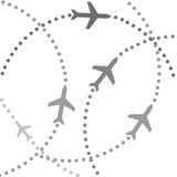 Planes on flight paths Stock Images