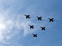 Planes flying in formation Royalty Free Stock Images