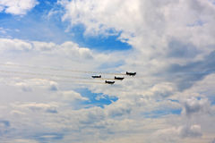 Planes flying overhead Royalty Free Stock Photos