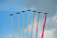 Planes - formation Stock Photo
