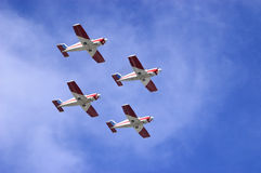 Planes in formation Royalty Free Stock Photos