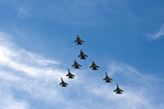 Planes in formation Royalty Free Stock Image