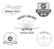 Planes label set. Vector Illustration. Royalty Free Stock Photo