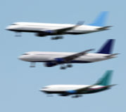Planes landing Royalty Free Stock Photo