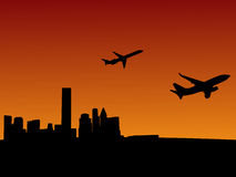 Planes leaving Houston Royalty Free Stock Photography