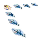 Planes made of euro banknotes Stock Photo