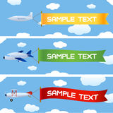 Planes with message vector illustration