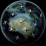 Planes over Australia Royalty Free Stock Photo