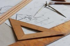 Planes para la arquitectura Imágenes de archivo libres de regalías