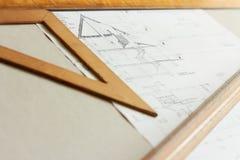 Planes para la arquitectura Fotografía de archivo
