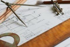 Planes para la arquitectura Fotos de archivo libres de regalías