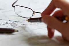 Planes para la arquitectura Foto de archivo
