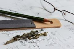 Planes para la arquitectura Fotografía de archivo libre de regalías