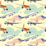 Planes pattern. Vector image.Planes seamless pattern Stock Images