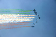 Planes showing flag of Italy Stock Photos