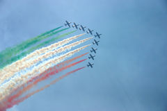 Planes showing flag of Italy Royalty Free Stock Image