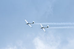 Planes on the sky during the airshow Stock Photography