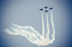 Planes on the sky during the airshow Royalty Free Stock Image