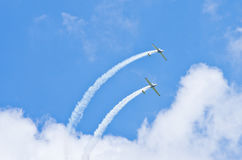 Planes on the sky during the airshow Royalty Free Stock Photo