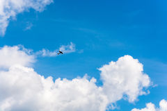 Planes in the sky. Royalty Free Stock Photo