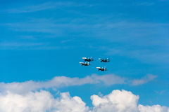 Planes in the sky. Royalty Free Stock Image