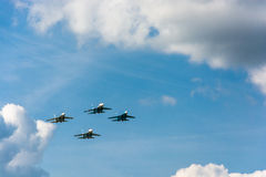 Planes in the sky. Royalty Free Stock Photos