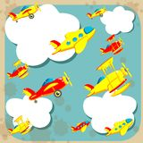 Planes in the sky. A lot of planes in the sky Stock Images
