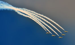 Planes on the sky Royalty Free Stock Photography