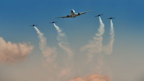 Planes on the sky Stock Photography