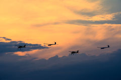 Planes on sky. Royalty Free Stock Photography
