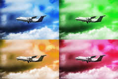 Planes in the sky Stock Photography