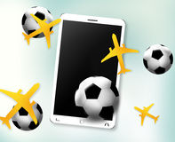 Planes Soccer Balls Phone Screen Stock Images