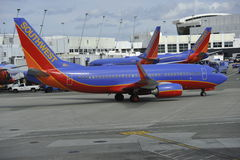 Planes of the Southwest Airline Stock Images