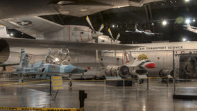 Planes at the USAF Museum, Dayton, Ohio royalty free stock images
