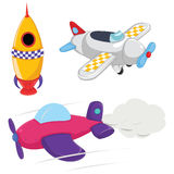 Planes Vector Illustrations Royalty Free Stock Images