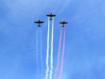 Free Planes With Smoke Trail Royalty Free Stock Photography - 96346547