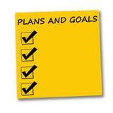 Planes y metas stock de ilustración