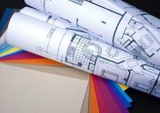 Planes y muestras Imágenes de archivo libres de regalías