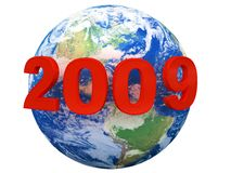 planet 2009 Arkivbild