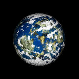 The planet. 3D rendered blue planet with atmosphere in space (over black background Stock Images