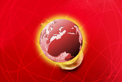 Planet in 3D Royalty Free Stock Photos