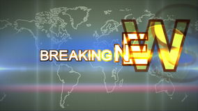 Planet Abstract  background for breaking news stock video
