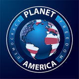 Planet america - world with continents Royalty Free Stock Photo