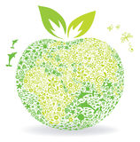Planet - apple. Illustration, background -- Planet Earth in the form of an apple Royalty Free Stock Photo